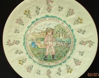 Kate Greenaway Pisces Plate. Royal Doulton 1977