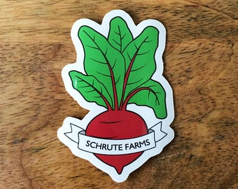 Schrute Farms Beet Sticker - Dwight Schrute The Office Vinyl Sticker