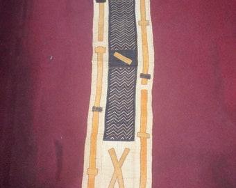 Bakuba Cloth Hand Woven Mat - 5′3″ × 1′2″