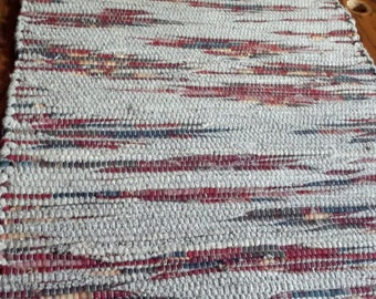 Handwoven rag rug, Curtis Roy,49-349s
