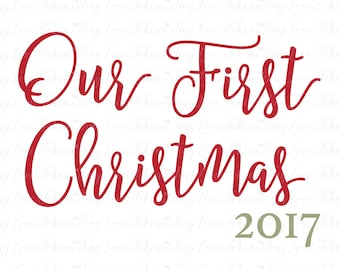 Our First Christmas 2017 Design (.svg/.dxf/.eps/.pdf/.png)