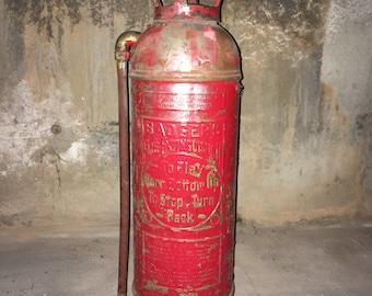 Red Brass Fire Extinguisher