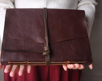 Custom Leather Photo Album, Leather Album, Baby Album, Distressed Scrapbook Album, Leather Wedding Guestbook