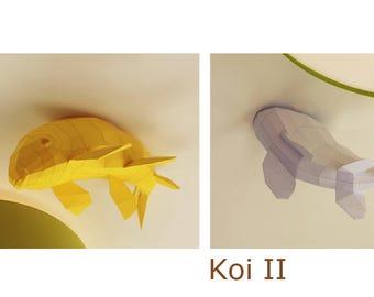 Ceiling Kois - Fish shoal, Papercraft Kit (2 Fishes)