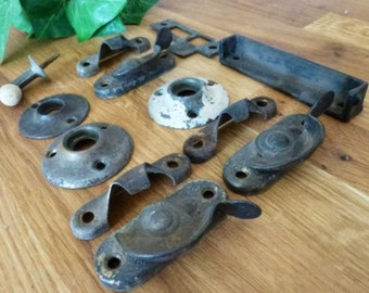 Assortment of Salvaged Hardware,  Window Hardware,  Door Hardware