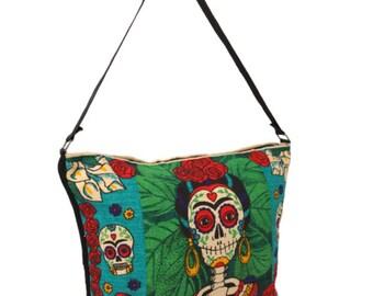 Frida skeleton purse