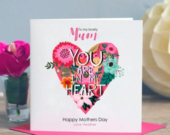 Mothers Day Card - Mum Card - Mom Card - Mother's Day Card - Card for Mom - Birthday Card for Mum - Card for Mam - Card for Mum  SKU 006