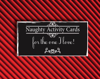 Naughty Game Cards Game Naughty Love Coupons Kinky Gift Man Anniversary Gift for Him Coupon Book Printable Gift Anniversary Gift for Men