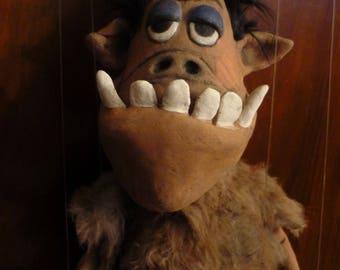 Monster puppet, unique, collectible,.