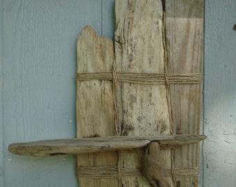 "15"" x 20"" Genuine Galveston Bay Driftwood Shelf"