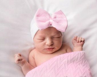 Unique baby girl gift, baby girl shower gift, baby girl hat, baby girl gift, baby girl pink newborn girl hospital hat