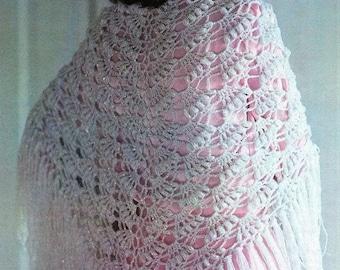 Crochet Wrap Evening Triangle Shawl Pattern /Lace Pattern/Shawl / Scarf / Wrap- - PDF Download