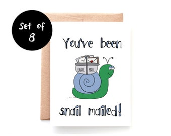 You've Been Snail Mailed Set of 8 Cards