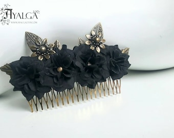 Flower hair comb- statement jewelry- hair pin - hair clip