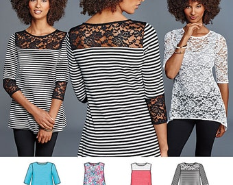 Simplicity Pattern 8016 Misses' Knit Tops