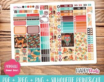 Autumn Printable Planner Stickers.