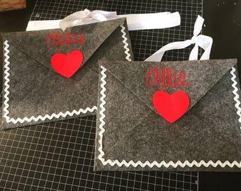 Valentine's Felt Envelopes