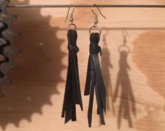 Shredded Innertube Earrings