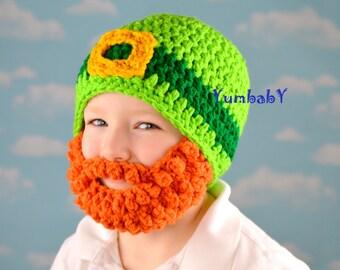 Irish Leprechaun Beard Hat Saint Patricks Day Kiss Me I'm Irish Bearded Beanie