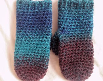 Colorful winter mittens