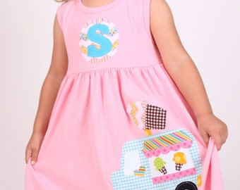 Ice Cream Truck Dress, Summer Dress, Choose Color and Sleeve Length