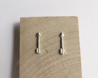 Delicate Tiny Sterling Silver Arrow Stud Earrings. Sterling Silver Arrow Earrings. Arrow Studs. Arrow Earrings.