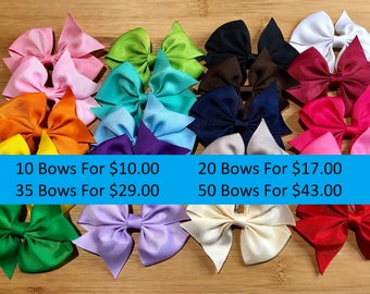 Little girl bows 3.5 hair bow clips, girls bows, hair bows, bows for girls, lot of bows, cheap bows, dollar bows, toddler bows, christmas