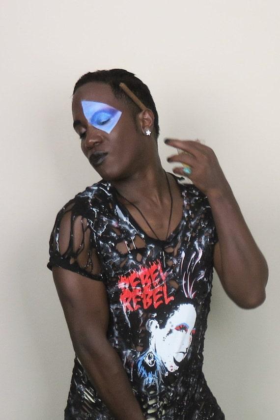 Shredded Retro Punk Rock & Roll Tee Shirt