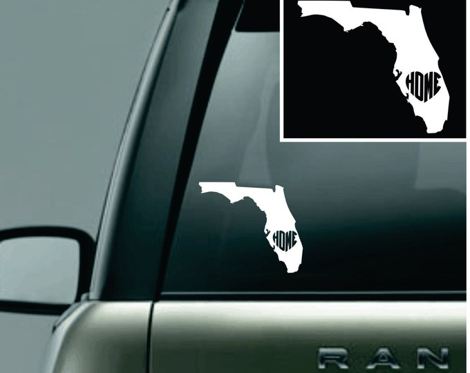 Florida Love Your State Car Decal