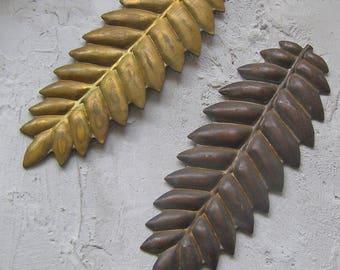 Vintage Fern Stampings, Leaf Stamping, Jewelry Findings, Brass Stampings, Brass Findings, Brass Leaves