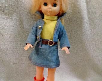 Sweet Vintage Cowgirl Plastic Doll