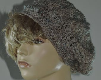 Thick and Thin Crochet Slouch Hat Pattern