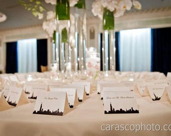 City Wedding Place Cards -- Customizable, other cities available