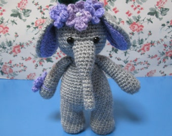 Cute elephant,Handmade crochet toy, Crochet toy, Amigurumi toy, Shower gift for baby