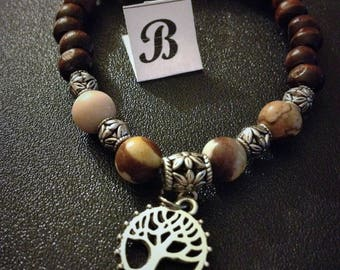 Brown Zebra Jasper genuine gemstone jewelry