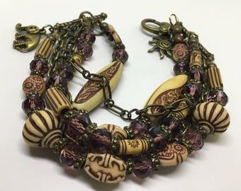 Vintage/Boho Multi Tiered Bracelet.
