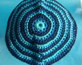 Beanie Baby turquoise lines Navy and Royal Blue