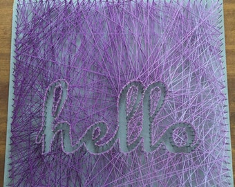 18 x 18 Custom String Art Word or Phrase, Ombre and Negative Space