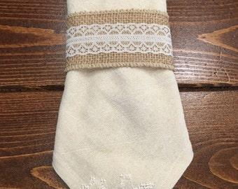 Tea dyed flour sack napkins