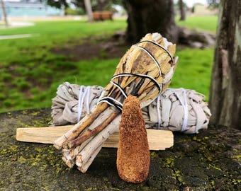 Create Your Own Smudge Kit White Sage Palo Santo Cone Yerba Santa Abalone Shell