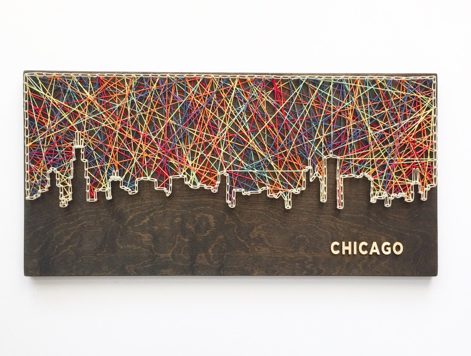 Chicago skyline string art chicago art illinois art chicago zoom prinsesfo Image collections