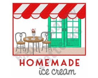 Ice Cream Parlor - Machine Embroidery Design