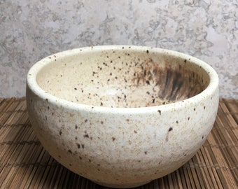 Rustic Bowl - Handmade Rustic Yellow Bowl - Ceramic Bowl - Oatmeal Bowl - Dip Bowl - Ice Cream Bowl - Speckled Stoneware Bowl
