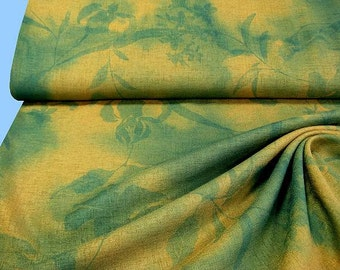 Light coat fabric golden yellow-green