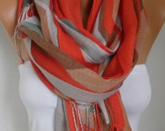 Red Cotton Scarf, sunner Shawl, Cowl, Wrap,bridesmaid gift,bridal scarf Gift Ideas For Her Women Fashion Accessories Women Scarves