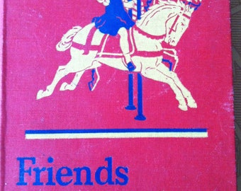 Vintage Illustrated 2_1 Reading Primer Friends And Neighbors  1946 Perfect for Home School