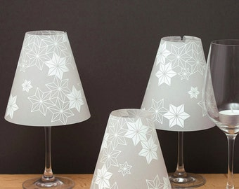 THE STERNENHELENE   3 Wine Glass Lamp Shades