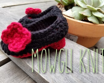 High Heel Baby Louboutin Shoes Crochet, Red Sole, Baby Girl, Baby Shower Gift, Louboutin, Red and Black High Heels, Baby Booties