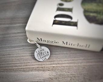 I Like Big Books and I Cannot Lie - Custom Bookmark - Hand stamped bookmark - Book Club