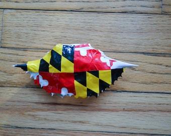 Vinyl Maryland Flag Blue Crab Shell